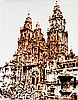 ƒVik Muniz (né en 1961) Catedral de Santiago de Compostela (Pictures of chocolate), 2003 Chromogenic print Signed, numbered AP 1/3 a...