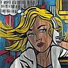 Pavlos (Né en 1930).Hommage au Pop Art, Ommage à R. Lichtenstein, 2011. Cut paper construction on panel, plexiglas box.Tilted, signed a