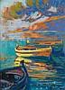 Louis Fortuney (1878-1950) Les calanques Pastel sur papier Signé, dédicacé et titré en bas à droite 32 x 25cm