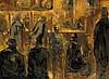 Roger Bertin (1915-2003) Intérieur de bar Huile sur toile Signée en bas à droite 60 x 81cm