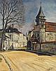 Nathan Grunsweigh (1880-1943) Rue de village Huile sur toile Signée en bas à gauche 61 x 50cm
