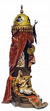 ƒÉCOLE AUTRICHIENNE BRONZE DE VIENNE (XIXe-XXe siècles) D'APRÈS FRANZ XAVIER BERGMANN (1861-1936) LA JOUEUSE DE LUTH THE LUTH PLAYER...