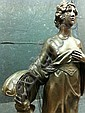 A bronze Figure with harp attributed to Hermann, Otto Haase-Ilsenburg, Click for value