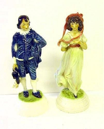 PAIR GOEBEL PORCELAIN FIGURES