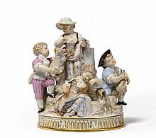 A Meissen Porcelain Figure Group of Children, late