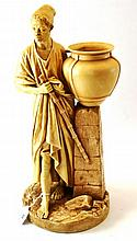 A Royal Worcester Porcelain Figure of a Water
