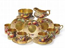 A Royal Worcester Porcelain Coffee Service, 1911,