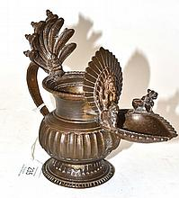 A Nepalese Bronze Temple Lamp (Sukunda), 18th/19th