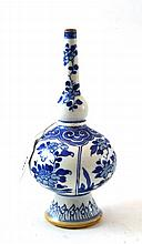 A Chinese Porcelain Rose Water Bottle, Kangxi,