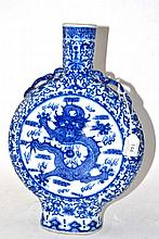 A Chinese Porcelain Moon Flask, in Kangxi style,