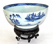 A Chinese Porcelain Punch Bowl, Qianlong, painted