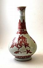 A Chinese Porcelain Bottle Vase, in 18th century