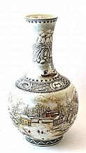 A Chinese Porcelain Bottle Vase, 20th century,