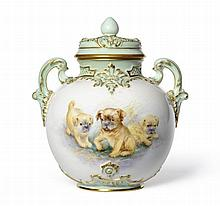 A Royal Worcester Porcelain Pot Pourri Vase and