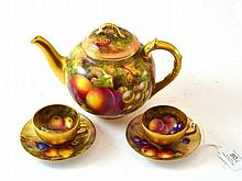 A Royal Worcester Porcelain Teapot and Cover,