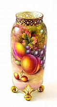 A Royal Worcester Porcelain Vase, 20th century,