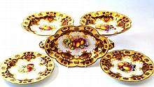 A Royal Worcester Porcelain Part Dessert Service,