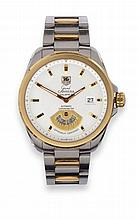 A Steel and Gold Automatic Calendar Wristwatch,