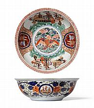 An Imari ''Black Ship'' Bowl, 19th century, of
