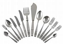 A Service of Art Deco Silver Flatware, Elkington &