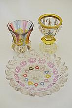 A Bohemian Glass Goblet, late 19th century, the