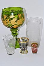An Austrian Glass Beaker, 19th century, of