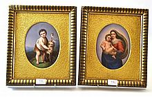A Pair of Continental Porcelain Plaques, late 19th