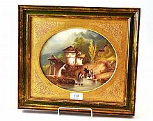 A Continental Porcelain Plaque, circa 1870,