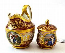 A ''Vienna'' Porcelain Custard Cup and Cover and