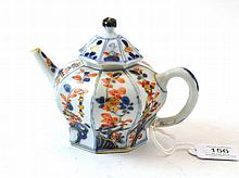A Chinese Imari Porcelain Teapot and Cover, circa
