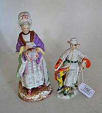 A Meissen Porcelain Figure of the Racegoer's