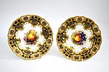 A Pair of Royal Worcester Porcelain Dessert