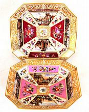 Two ''Vienna'' Porcelain Octagonal Serving Dishes,
