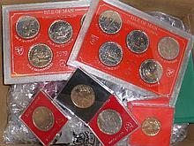 Milled Coins: Isle of Man, A Large Collection of
