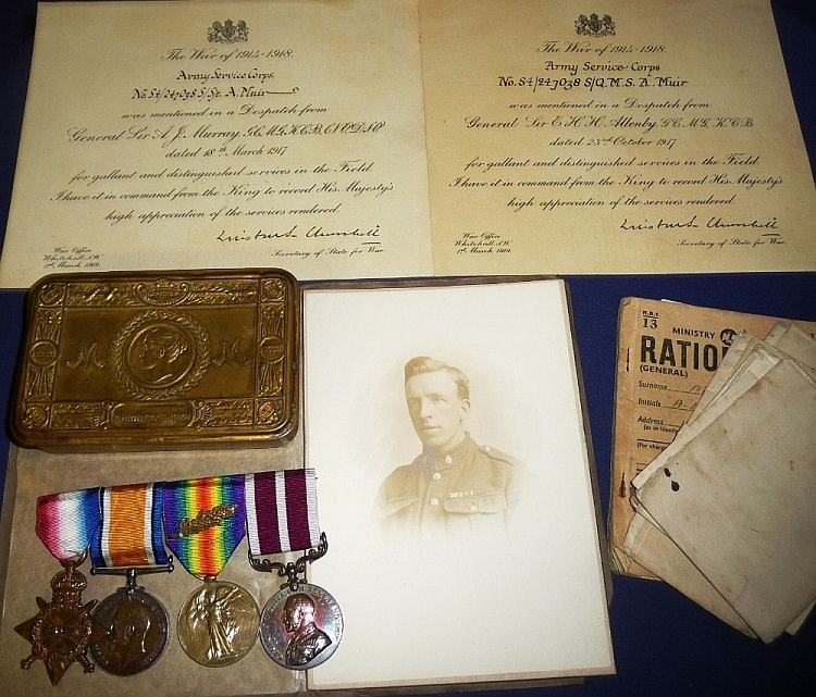 Medals : A First World War Group of Four Medals,