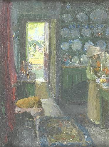 Oil Painting: Frank Bramley R.A., N.E.A.C.