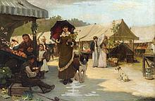 Alfred H Phillips (fl.1872-1904) Market Day