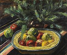 Elliot Seabrooke (1886-1950) Still life of apples