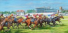 Roy Lyndsay (b.1945) Irish ''Royal Ascot at York''
