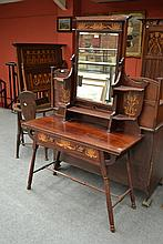 An Art Nouveau Scottish Inlaid Mahogany Dressing