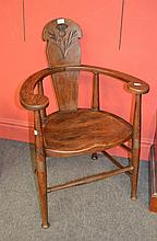 A Set of Four Scottish Arts and Crafts Oak Chairs,