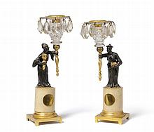 A Pair of Regency Parcel Gilt Bronze Figural