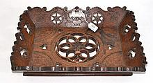 A German Oak Marriage Tray, dated 1771, of flared