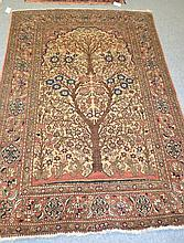 Isfahan Prayer Rug Central Persia The ivory field