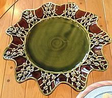 MacKenzie-Childs Ceramic Serving Plate/Ruffle Edge