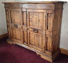 17th c. style Bracket base Two Door Cabinet