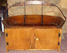 Antique Wagon Seat / Storage Cabinet