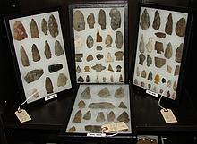 Various Objects made of NYS and exotic flints