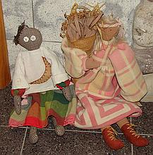 2 Decorative Cloth Dolls