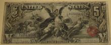 1896 $5 Educational Series Note SCARCE
